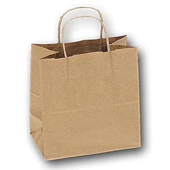 Bolsas de la compra de papel kraft marrón, medidas 25,4 x 12 ...