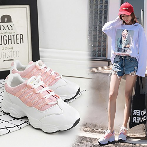 35 Deportes Mujeres Deportivos Cómodos Negro Portátiles Mujer para Negro 40 y Otoño Transpirables Rosa Blanco Zapatos y Aire Zapatos Zapatos Deportivos Primavera para de Deportivos Libre Zapatos 4fT7wxX