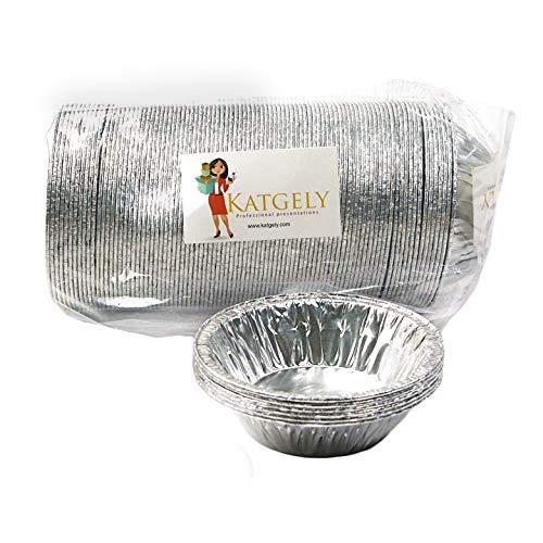 Katgely 7 Oz Aluminum Casserole Pot Pie Pans (Pack of 100)
