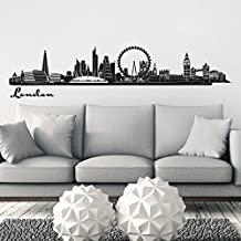Wandkings Skyline wall sticker wall decal - 48 x 10 inch in black - Your city selectable - LONDON