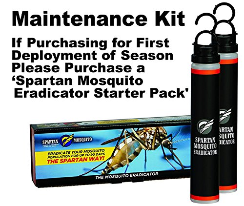 SPARTAN MOSQUITO ERADICATOR Control 1-ACRE MAINTENANCE; Best Whole Yard Outdoor Killer Barrier Solution; More Effective Than ShortTerm Insect Repellent Trap MosquitoFree Backyard Garden Patio by SPARTAN MOSQUITO