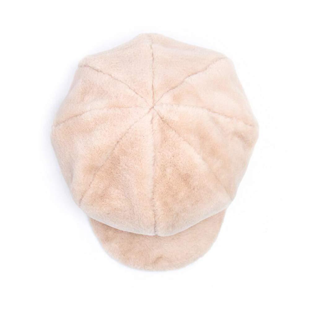 Color : T1, Size : 52-58cm MUMA Hat Female Autumn Winter Guarantee Warm Comfortable Star Anise Berets Fashion