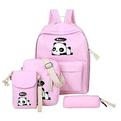 0b5b4e68911a DemiawakingUK Pink Demiawaking Girls School Bags Set 4 Piece Cute ...