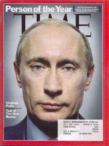Time Magazine, Person of the Year Vlafimir Putin 2008, January 7, 2008