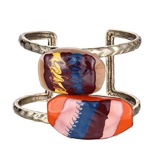 rop Oil Retro Exaggerated Bangle Bracelet (State Street Flush)