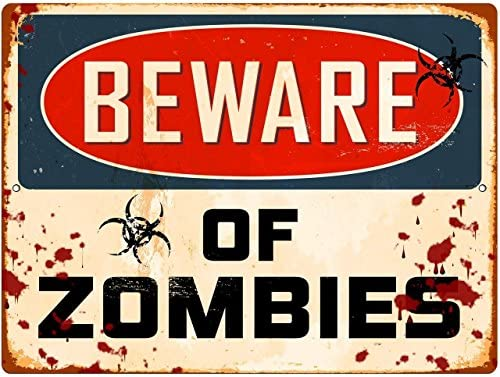 Redeye Laserworks Beware Of Zombies Parking Sign Metal Sign From Home Kitchen