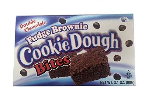 Fudge Brownie Cookie Dough Bites (1) Box by The Original (Cookie Dough Fudge)