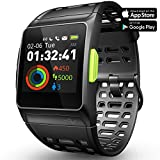 LUKAWIT Fitness Tracker GPS Running Watch, Activity Tracker with Heart Rate Monitor, HRV Analysis, Pedometer, Sleep, Steps Tracker with Multi-Sports Modes, IP68 Waterproof Bluetooth Smart Watch