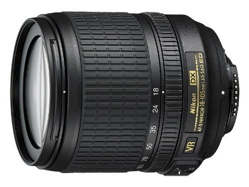 Nikon 18-105mm f/3.5-5.6 AF-S DX VR ED Nikkor Lens for Nikon Digital SLR Cameras + WSP Lens cleaning kit.
