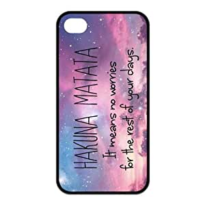 Beautiful Sky Hakuna Matata For Iphone4/4s Black or White Leather Rubber Cover Case-Creative New Life hjbrhga1544