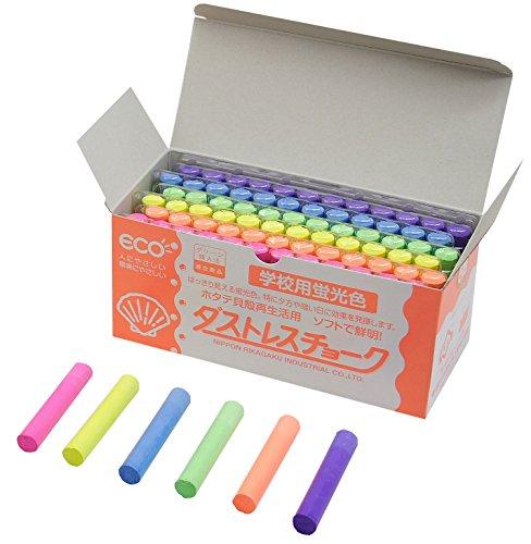 Dustless Fluorescent Chalk 72pcs, 6 colors by Dustless (Image #1)
