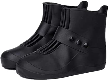 Shoe Covers Reusable Washable Non Slip Work Boot Overshoes for Indoors Black