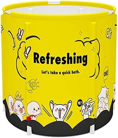 ポータブルバスタブ、折りたたみ式 大人と家族全員65x70cmのために子供ポータブルバスタブ簡単に店バスタブのために折り畳み式の風呂バレル 大人の子供SPA 設置が簡単浴槽、優れた絶縁性能 、良い素材 (Color : Yellow, Size : 65x70cm)
