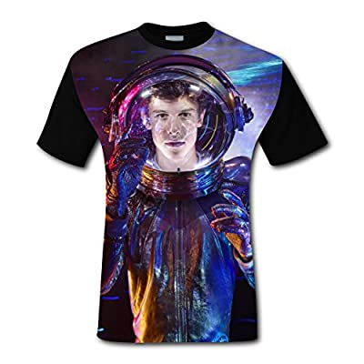 HELLOSHAO123 Shawn_Mendes Spaceman Original Design Loose T-Shirt 3D Printed Tee Top for Man