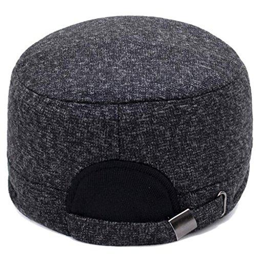 peludo casual hombres Hat Hat ZHAS Middle gruesos Invierno coffee Sombrero Aged's proteger exterior el oído x0wqq5IZ
