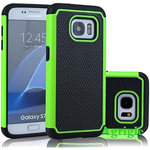 Galaxy S7 Case,AGRIGLE Slim Fit Shock Absorption Case Hybrid Dual Layer Drop Protection Armor Hybrid Defender Protective Case Cover for Samsung Galaxy S7 (Green) Sales