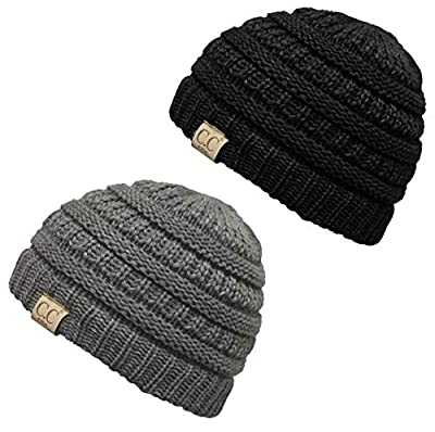 Funky Junque CC Kids Baby Toddler Ribbed Knit Children's Winter Hat Beanie Cap