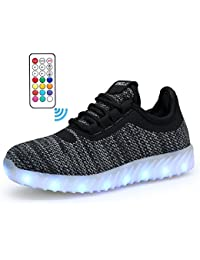 Boys Girls 22 Colors LED Light Up Running Shoes for Kids USB Flashing Sneakers