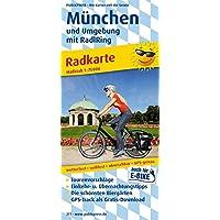 München und Umgebung mit RadlRing: Radkarte mit den schönsten Biergärten, wetterfest, reissfest, abwischbar, GPS-genau. 1:75000 (Radkarte/RK)