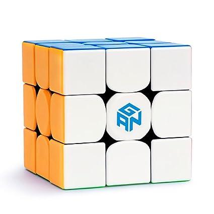 Roxenda GAN 356 Air Master 3x3 Liso Cubo Mágico Ganspuzzle Cubo de la Velocidad Puzzles Incluido Apoyo de Cubo y Bolsa de Cubo (GAN 354 M)