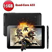 Tiptiper 9 inch Android Tablet PC A33 Quad Core 16GB 1.5GHz 1080P TFT Screen Black With Wifi Bluetooth[UK plug]