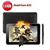 Tiptiper 9' inch Android Tablet PC A33 Quad Core 16GB 1.5GHz 1080P TFT Screen Black With Wifi Bluetooth[UK plug]