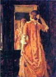 Art Oyster William Merritt Chase Young Woman Before a Mirror - 21.1'' x 28.1'' 100% Hand Painted Oil Painting Reproduction
