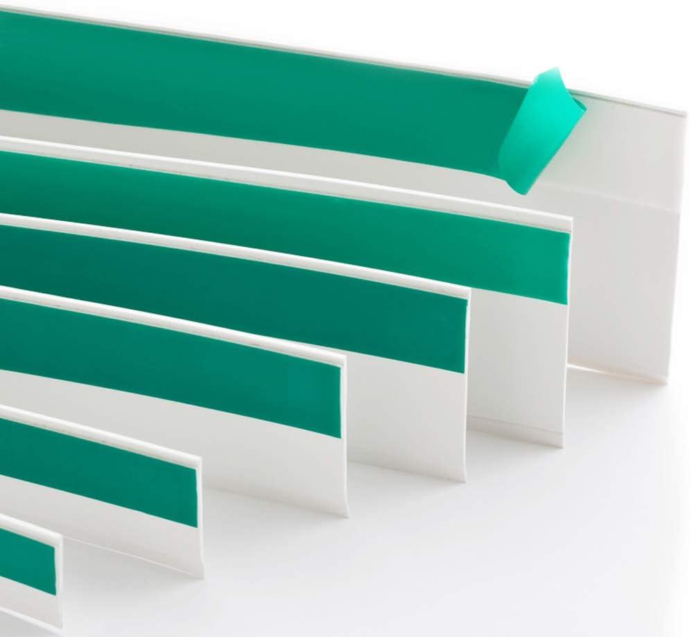 B: 50mm | L: 10m Flachleiste Kunststoffleiste Fensterleiste mit Gummilippe