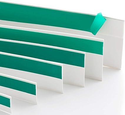 Flachleiste Kunststoffleiste Fensterleiste mit Gummilippe B: 20mm | L: 50m