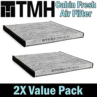 ( Pack of 2 ) TMH® TMH10132 CP132 ( CF10132 ) Premium Cabin Air Filter with Activated Carbon Toyota / Lexus / Scion / Subaru Passenger Driver Car Replacement Air Condition Filter