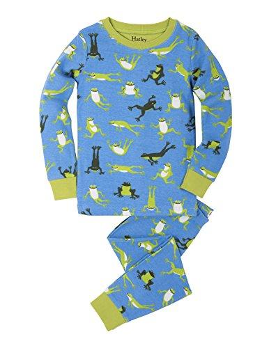SetEnsemble Hatley Frogs Organic Long Pyjama Garçon Hopping Cotton Sleeve Printed CroQeWdxB