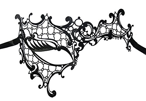 Luxury Mask Women's Signature Phantom Of The Opera Venetian Laser Cut Mask