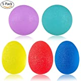 Hand Grip Strengthener Stress Relief Therapy Exercise Balls, UJoylify 5 Squeeze Hand Fidgets Stress Relief Balls -Hand Therapy Balls Exerciser Kit for Hand Finger Wrist Forearm Arthritis Therapy Rehab