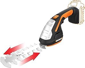 Worx WG801.9 20V Shear Shrubber Trimmer, Bare Tool Only,Black and Orange