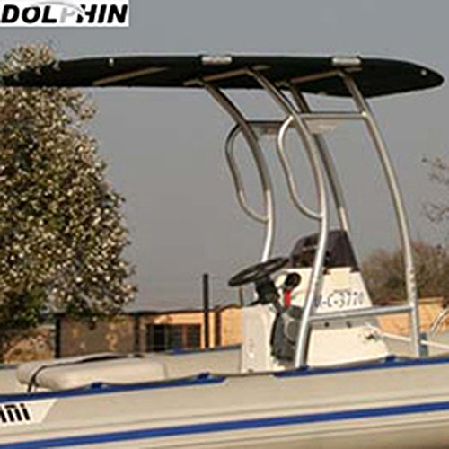 Dolphin Pro S2 T-TOP Black Canopy, Anodized Aluminum for Center Console Fishing Boats (Boat Center Console Fiberglass compare prices)