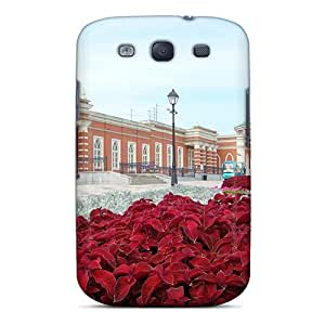 Awesome Design Fields Of Red Flowers Hard Case Cover For Galaxy S3