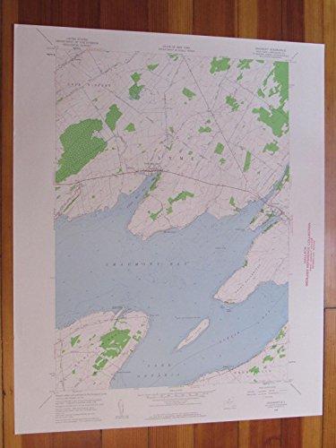 Chaumont New York 1960 Original Vintage USGS Topo Map