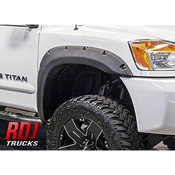 RDJ Trucks PRO OFFROAD Bolt On Style Fender Flares   Titan 2004 2014   Set  Of 4   Aggressive Textured Black Finish (No Bedside Lock Box)