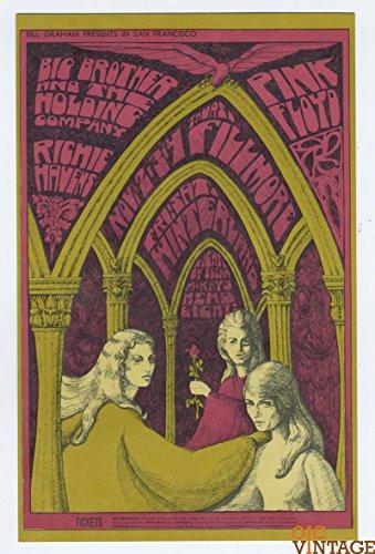 Bill Graham 91 Postcard Pink Floyd Big Brother and The Holding co 1967 Nov (Big Ticket)