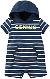 Baby Boys Hooded French Terry Romper