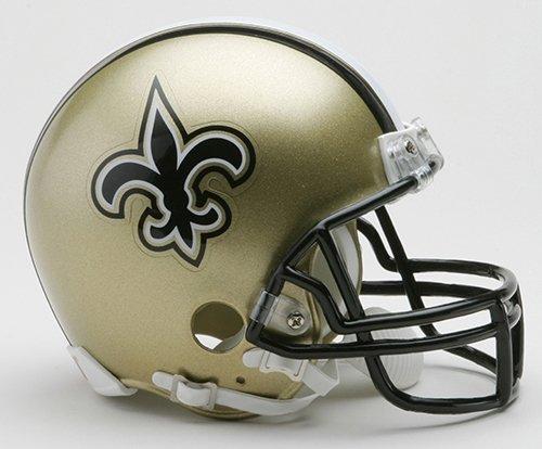 New Riddell New Orleans Saints VSR4 Mini Football Helmet ()
