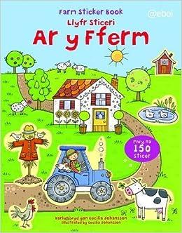 Book Llyfr Sticeri Ar Y Fferm / Farm Sticker Book by Cecilia Johansson (1-Jul-2012)