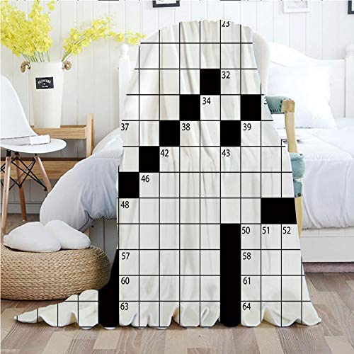 - Word Search Puzzle,Throw Blankets,Flannel Plush Velvety Super Soft Cozy Warm with/Blank Newspaper Style Crossword Puzzle with Numbers in Word Grid Decorative/Printed Pattern(70