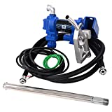 Goplus 12V 20GPM Electric Gasoline Transfer Pump Fuel Gas Diesel Kerosene Extractor Pump with Nozzle Kit and Hose
