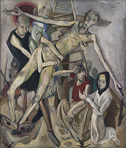 Max Beckmann The Descent from The Cross - Film Movie Poster - Best Print Art Reproduction Quality Wall Decoration Gift - A4 Poster (11.7/8.3 inch) - (30/21 cm) - Glossy Thick Photo Paper