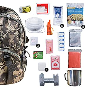 Wise Company Survival Kit, Food and Emergency Supply Backpack, Camo