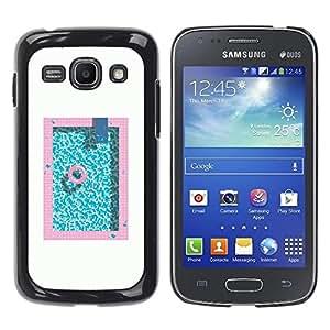 Be Good Phone Accessory // Dura Cáscara cubierta Protectora Caso Carcasa Funda de Protección para Samsung Galaxy Ace 3 GT-S7270 GT-S7275 GT-S7272 // Pool Pink Blue Aquamarine Minimal