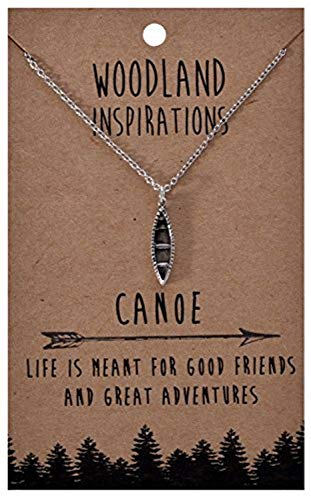 - Shag Wear Woodland Nature Inspirations Quote Necklace (Canoe Pendant)