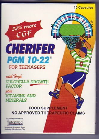 100 Caps Cherifer PGM 10-22 Chlorella Growth Height Vitamins