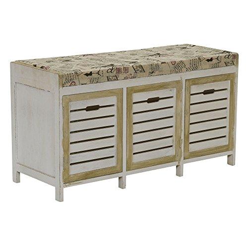 Household Essentials ML-5414 3 Door Bench